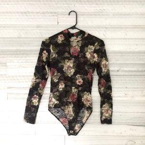 Floral body suit